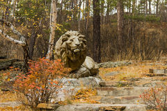 Памятник льва Стоковая Фотография