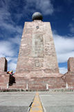 памятник экватора Стоковое Фото