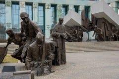 Памятник для того чтобы отполировать восстание бойцов Стоковые Фото