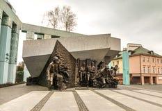 Памятник для того чтобы отполировать восстание бойцов Стоковая Фотография RF