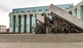 Памятник для того чтобы отполировать восстание бойцов Стоковые Фотографии RF
