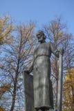Памятник Andrei Rublev около монастыря Andronikov moscow стоковая фотография rf
