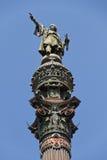 памятник barcelona columbus Стоковые Изображения