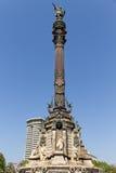 памятник barcelona columbus Стоковые Фотографии RF