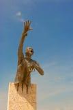 Памятник Benkos Bioho в главной площади в San Basilio de Palenque стоковые изображения