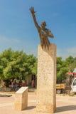 Памятник Benkos Bioho в главной площади в San Basilio de Palenque стоковая фотография rf