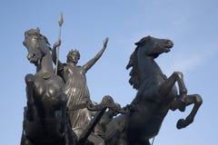 Памятник Boadicea Thornycroft, Лондоном Стоковые Изображения RF