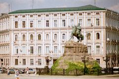 Памятник Bogdan Khmelnitsky внутри Стоковое Фото