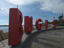Памятник Bugis в Макассаре стоковые фотографии rf