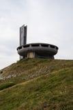 Памятник Buzludzha на холме стоковые изображения rf