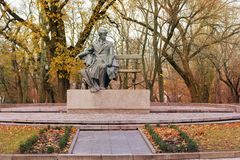памятник Chernihiv Украинский поет Taras Shevchenko стоковое фото
