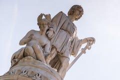 Памятник Christopher Columbus в Генуе, Италии, Европе стоковое изображение rf