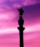 памятник columbus Стоковая Фотография RF