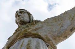 Памятник Cristo Rei Иисуса Христоса в Лиссабоне Стоковые Изображения RF