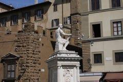 Памятник delle Bande Nere Giovanni в Флоренсе, Италии Стоковые Изображения RF