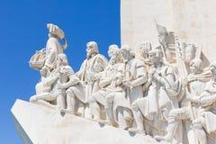 Памятник dos Descobrimentos Padrão открытий в банке Рекы Tagus, Belem, Лиссабоне Стоковое фото RF