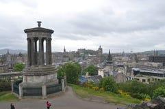 Памятник Dugald Stewart в Эдинбурге, Шотландии Стоковое фото RF