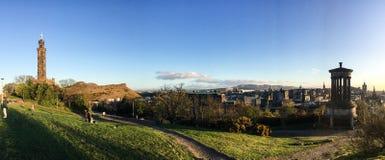 Памятник Dugald Stewart, холм Calton, Эдинбург, Шотландия Стоковое Изображение RF