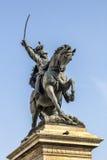 памятник equestrian ii emmanuel к Виктору Стоковая Фотография