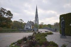 Памятник Frederik IX на переднем плане стоковое изображение