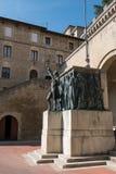 Памятник Girolamo Gozi и защитников свободы 1739-1740 в Сан-Марино стоковое изображение