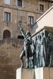 Памятник Girolamo Gozi и защитников свободы 1739-1740 в Сан-Марино стоковые фото