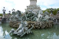 Памятник Girondins Стоковое Фото