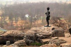 Памятник Gouverneur Уоррена на Gettysburg стоковая фотография
