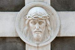 памятник jesus к Стоковые Фотографии RF