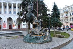 Памятник Khreshchatyk к Kozak Стоковые Фото