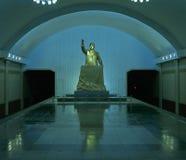 Памятник Kim Il-Sung в метро Пхеньяна, Северной Корее Стоковое фото RF
