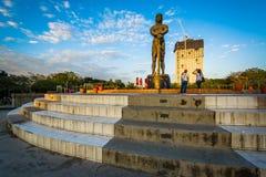 Памятник Lapu Lapu на парке Rizal, в Ermita, Манила, Phi стоковое фото rf
