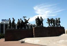 памятник leningrad защитников к стоковые фотографии rf