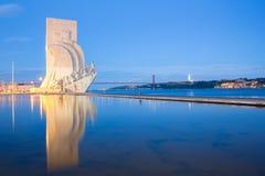памятник lisbon открытий к Стоковая Фотография RF