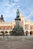 памятник mickiewicz adam krakow Стоковое Фото