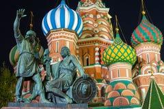 памятник minin pozharsky к Стоковое Изображение RF