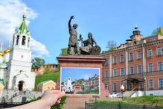 памятник minin pozharsky к стоковая фотография rf