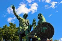 памятник moscow minin pozharsky к Стоковое Изображение