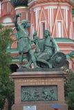 памятник moscow minin pozharsky к Стоковая Фотография RF