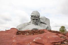 Памятник Muzhestvo смелости в крепости Бреста, городе Бреста, Беларуси стоковая фотография