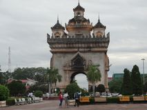 Памятник Patuxai, Вьентьян, Лаос Стоковая Фотография