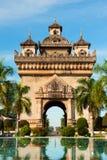 Памятник Patuxai, Вьентьян, Лаос. стоковое изображение