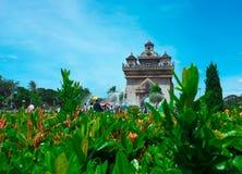 Памятник Patuxai, Вьентьян, Лаос 3 Стоковые Фотографии RF