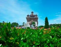 Памятник Patuxai, Вьентьян, Лаос Стоковое Изображение RF