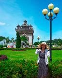 Памятник Patuxai, Вьентьян, Лаос Стоковая Фотография RF
