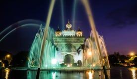 Памятник Patuxai в Лаосе Стоковые Фотографии RF