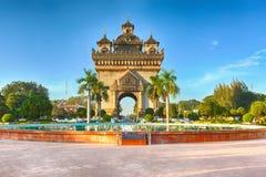 Памятник Patuxay в Вьентьян, Лаосе Стоковые Изображения RF