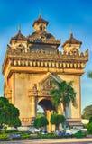 Памятник Patuxay в Вьентьян, Лаосе Стоковые Фото
