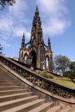 памятник scott edinburgh Стоковое Фото