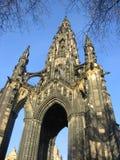 памятник scott edinburgh Стоковая Фотография